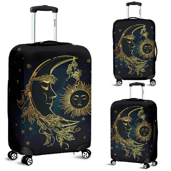 Sun And Moon Luggage Covers | woodation.myshopify.com