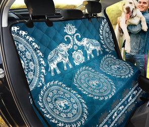 Blue Mandala Elephant Pet Seat Cover