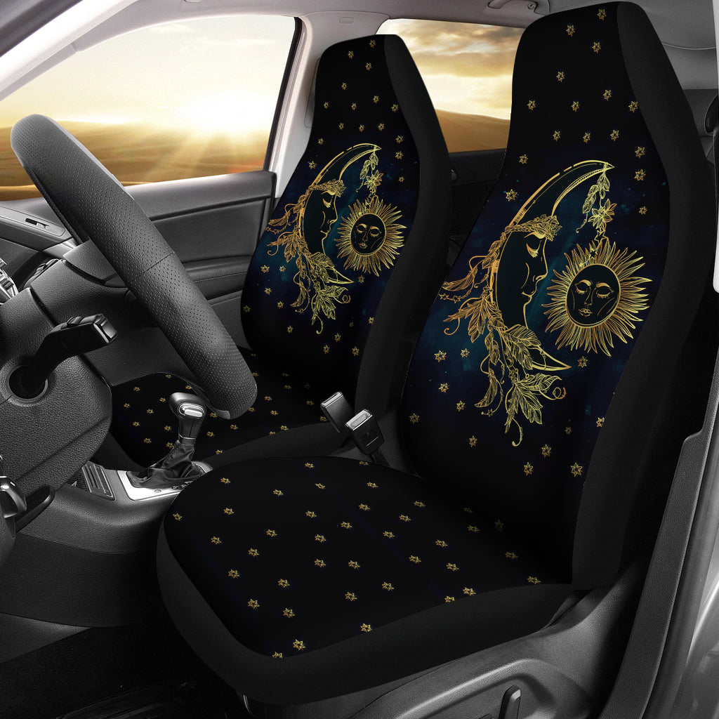 Swell Sun Moon Car Seat Covers Inzonedesignstudio Interior Chair Design Inzonedesignstudiocom