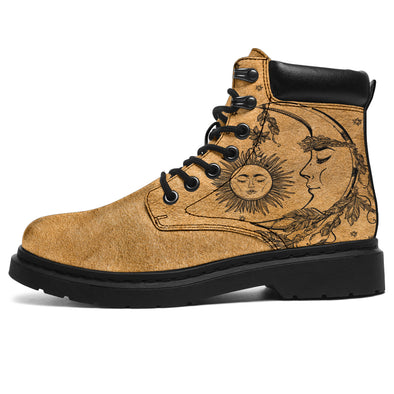 Tan Sun & Moon All-Season Boots