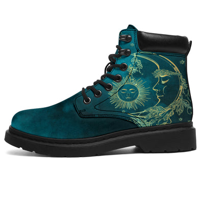 Teal Sun & Moon All-Season Boots