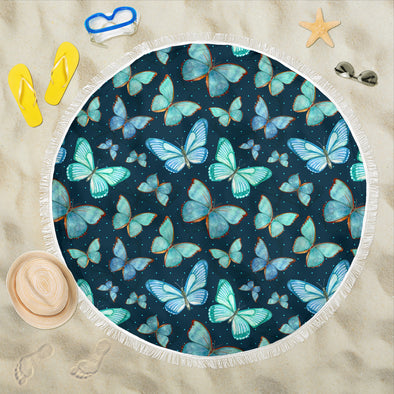 Spiritual Butterfly Beach Blanket | woodation.myshopify.com