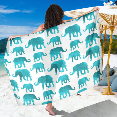 Watercolor Elephant Premium Sarong