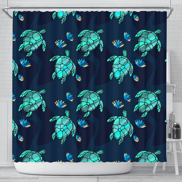 Turtle Love Shower Curtain | woodation.myshopify.com