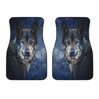 Wild Wolf Front Car Mats (Set Of 2) | woodation.myshopify.com