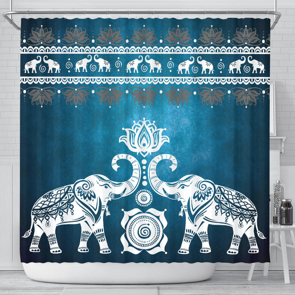Blue Mandala Shower Curtain | woodation.myshopify.com