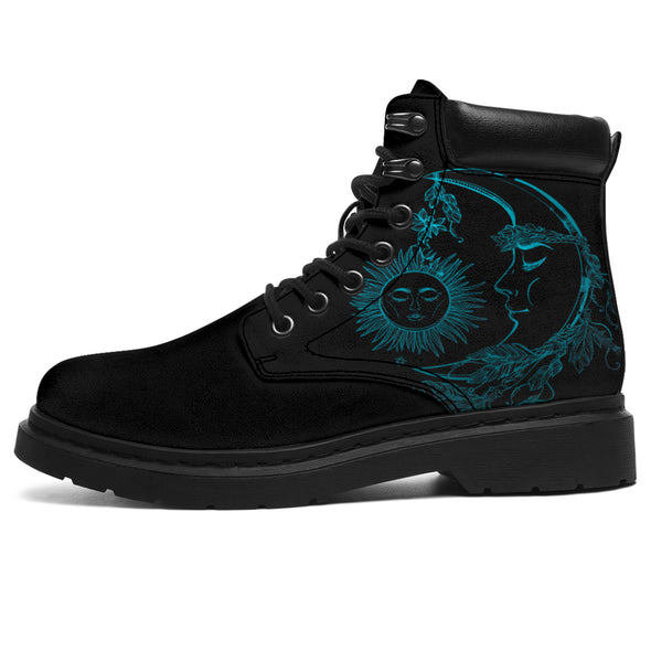 Turquoise Sun & Moon All-Season Boots