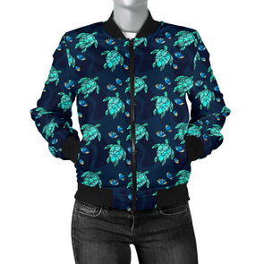Turtle Love Bomber Jacket | woodation.myshopify.com