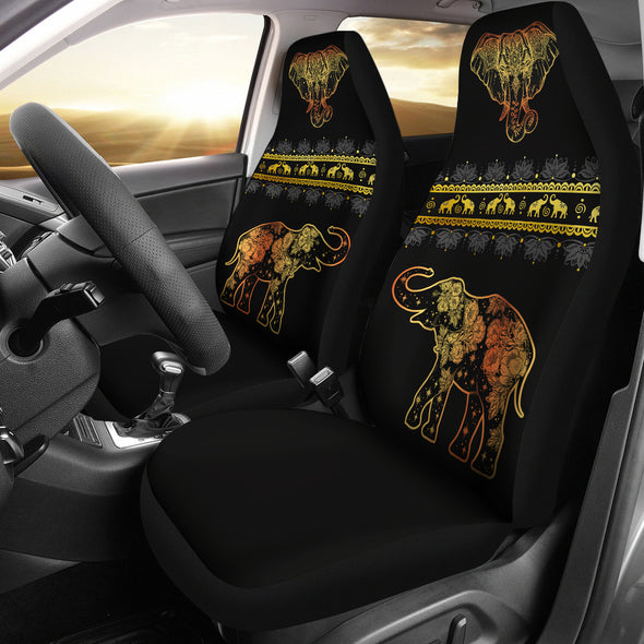 Golden Mandala Car Seat Covers