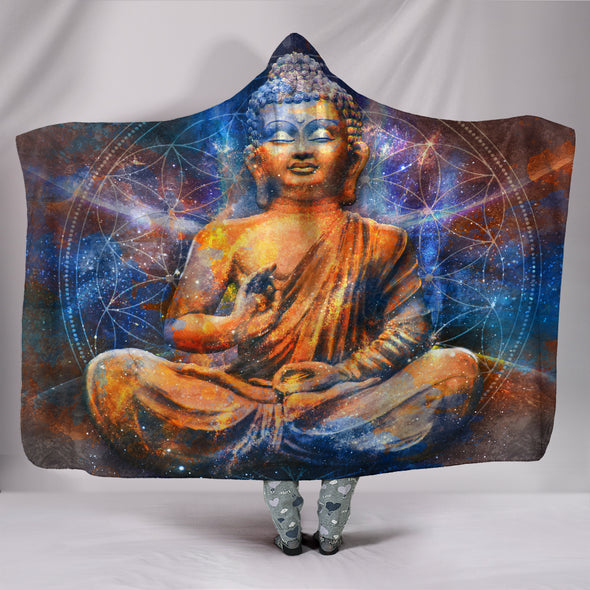 Meditating Buddha Hooded Blanket | woodation.myshopify.com