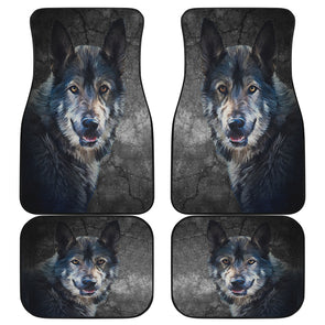 Wild Wolf Front And Back Car Mats(Set Of 4) | woodation.myshopify.com