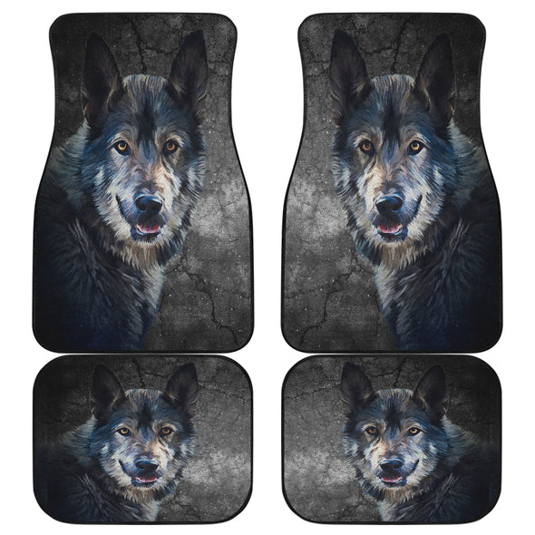 Wild Wolf Front And Back Car Mats(Set Of 4)