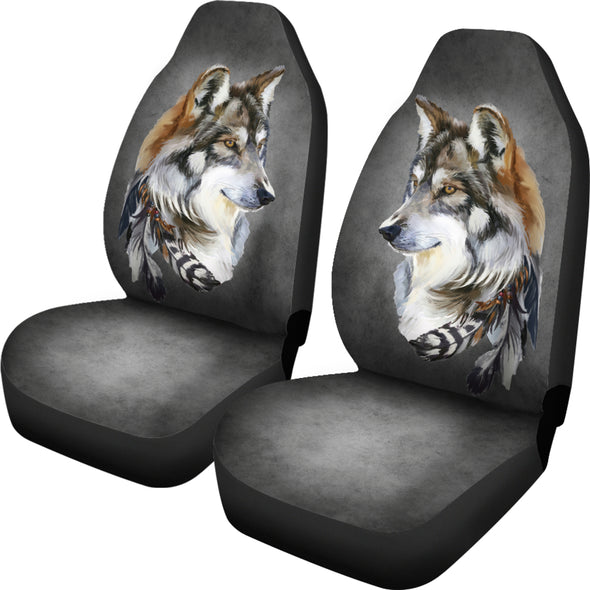 Tribal Wolf Car Seat Covers | woodation.myshopify.com