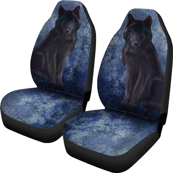 Bohemian Wolf Car Seat Covers | woodation.myshopify.com