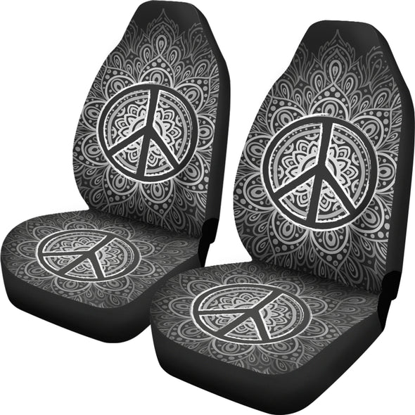 Peace & Love Car Seat Covers | woodation.myshopify.com