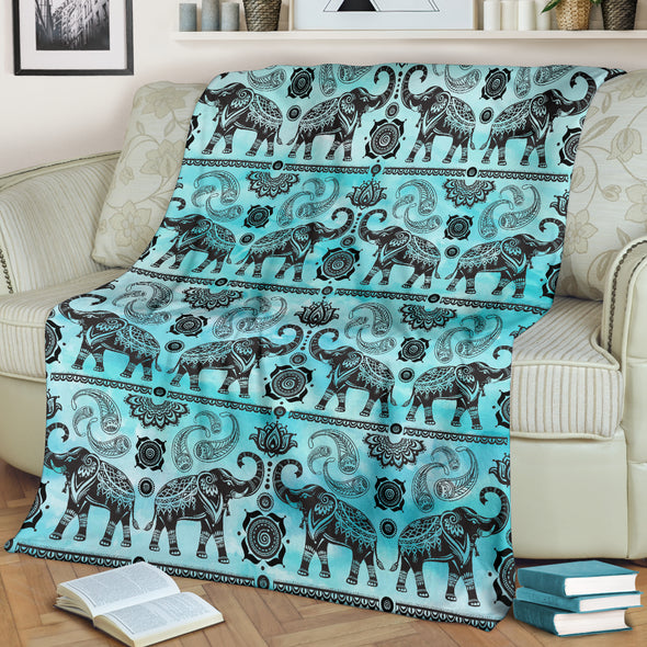 Good Fortune Elephant Blanket | woodation.myshopify.com