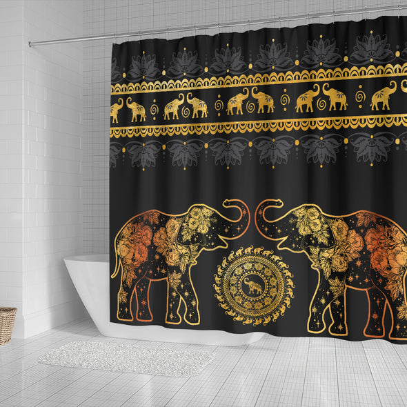 Golden Mandala Shower Curtain | woodation.myshopify.com
