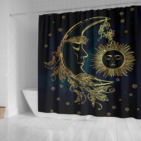 Sun & Moon Luxury Shower Curtain