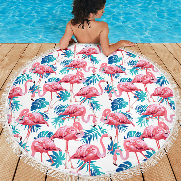 Flamingo Love Beach Blanket | woodation.myshopify.com