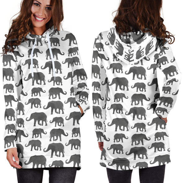 Elephant Watercolor Hoodie Dress | woodation.myshopify.com