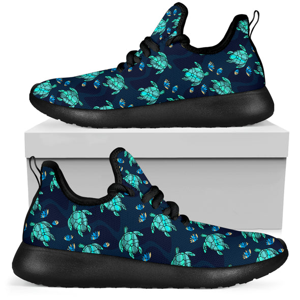 Sea Turtle Performance Sneakers | woodation.myshopify.com
