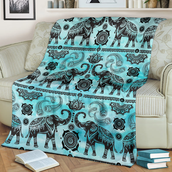 Elephant Good Fortune Blanket | woodation.myshopify.com