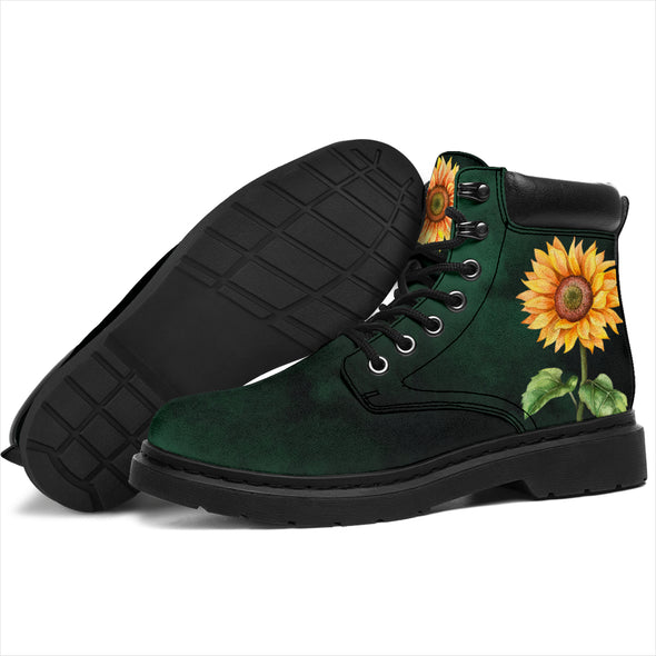 Green Sunflower All-Season Boots