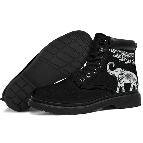 Black Good Fortune Elephant All-Season Boots