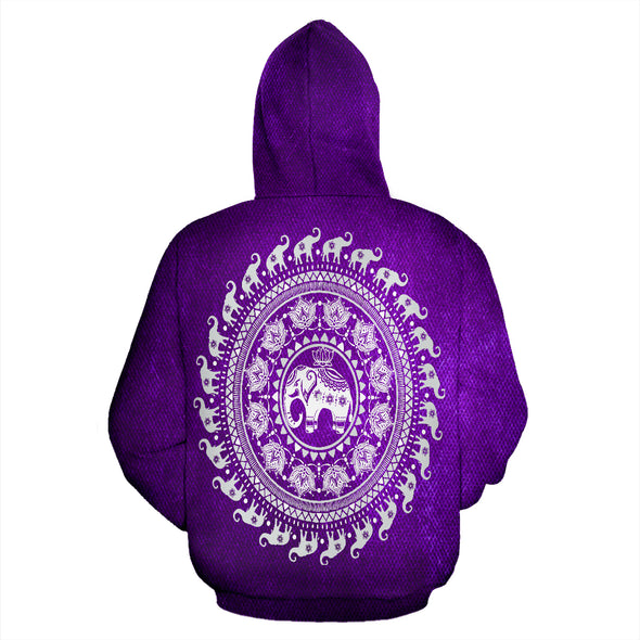 Purple Mandala Hoodie | woodation.myshopify.com