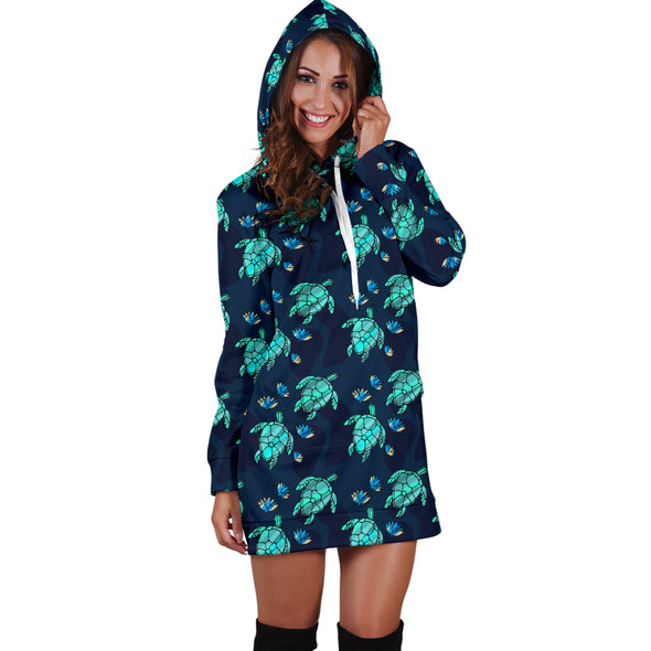 Turtle Love Hoodie Dress | woodation.myshopify.com