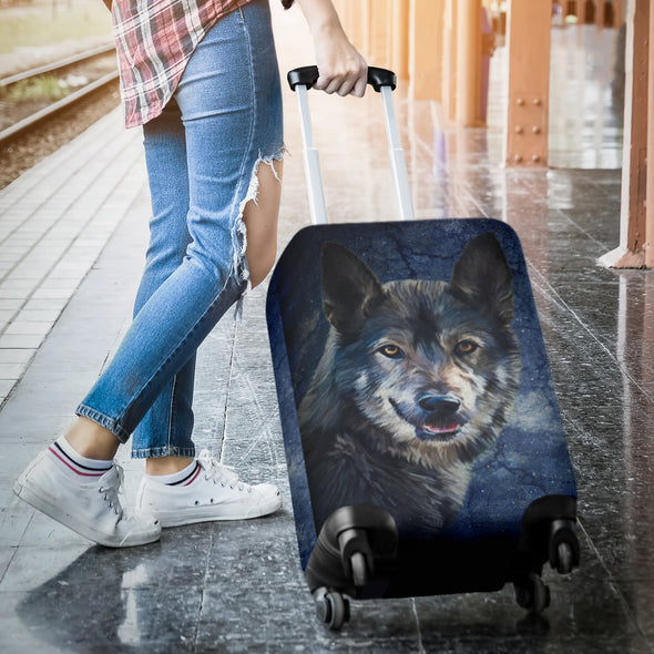WIld Wolf Luggage Covers | woodation.myshopify.com