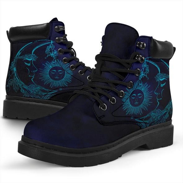 Deep Blue Sun & Moon All-Season Boots