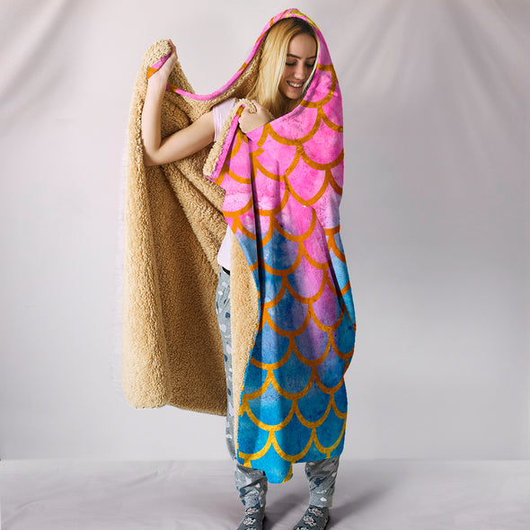 Mermaid Love Hooded Blanket | woodation.myshopify.com