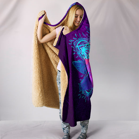Mystical Dragonfly Hooded Blanket | woodation.myshopify.com