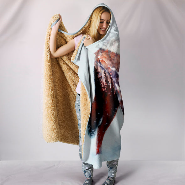 Wild Wolf Hooded Blanket | woodation.myshopify.com