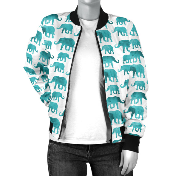 Watercolor Elephant Bomber Jacket | woodation.myshopify.com