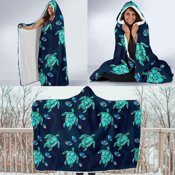 Turtle Love Hooded Blanket