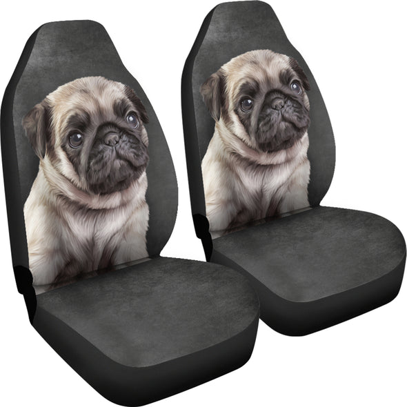 Pug Car Seat Covers | woodation.myshopify.com