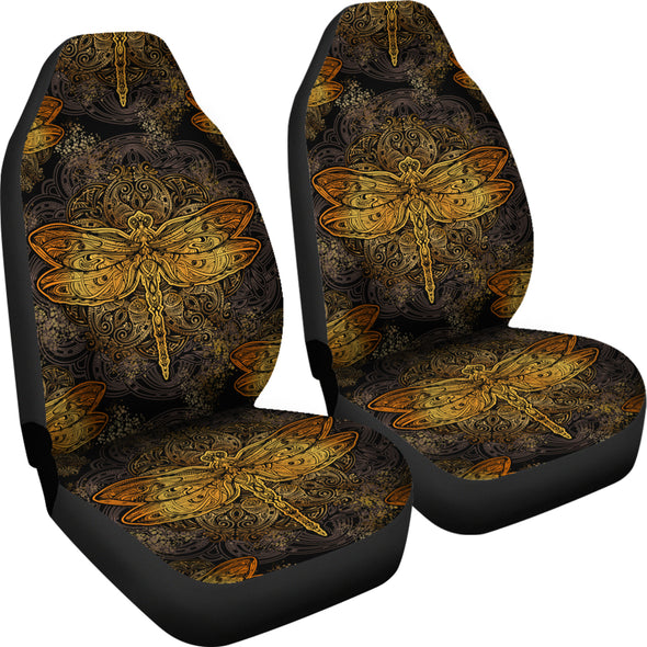 Golden Dragonfly Car Seat Covers | woodation.myshopify.com