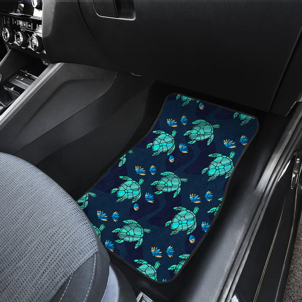 Turtle Love Front Car Mats (Set Of 2) | woodation.myshopify.com