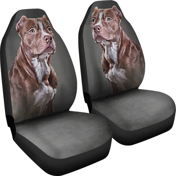 Pit Bull Love Car Seat Covers | woodation.myshopify.com