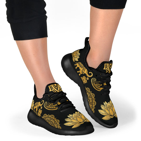 Golden Lotus Premium Sneakers | woodation.myshopify.com