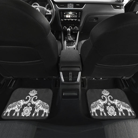 Elephant Mandala Front And Back Car Mats (Set Of 4) | woodation.myshopify.com