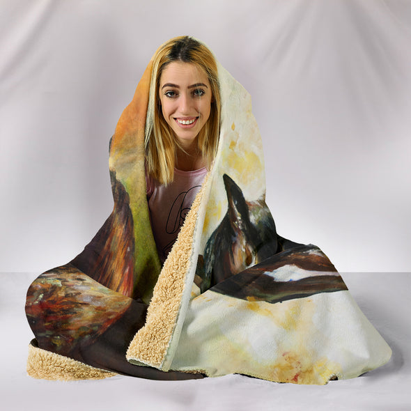 Horse Love Hooded Blanket | woodation.myshopify.com