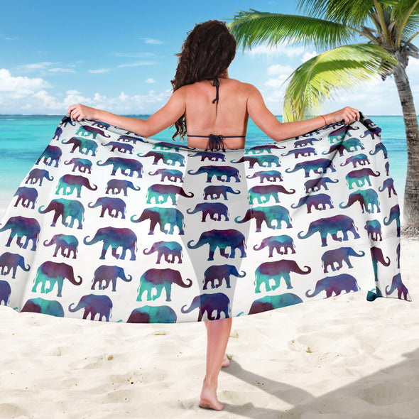Watercolor Elephant Premium Sarong | woodation.myshopify.com