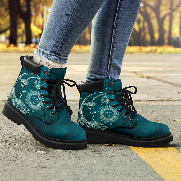 Teal Sun & Moon All-Season Boots 2.0
