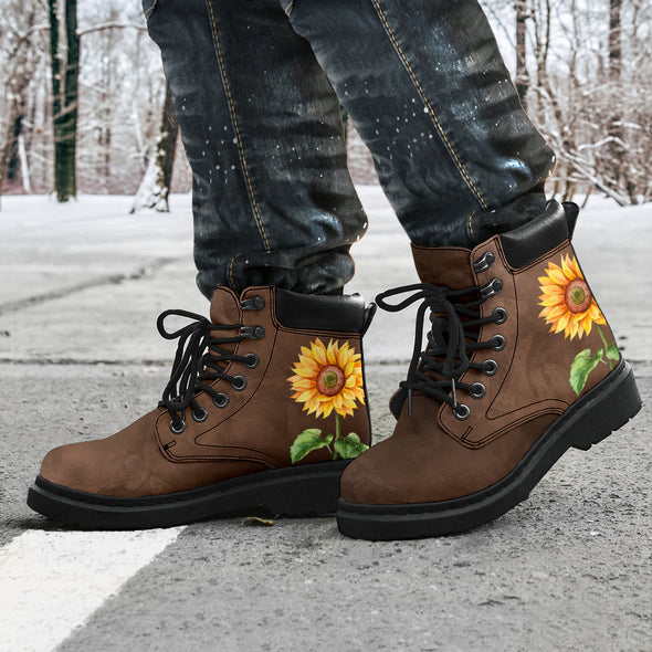 Brown Sunflower All-Season Boots