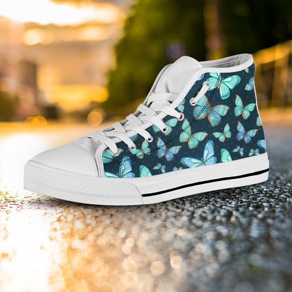 Butterfly Love High Top Shoes | woodation.myshopify.com