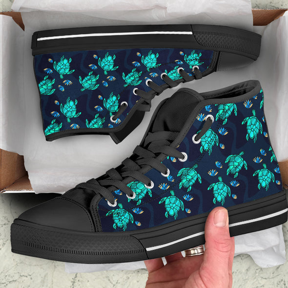 Turtle Love High Top Shoes | woodation.myshopify.com