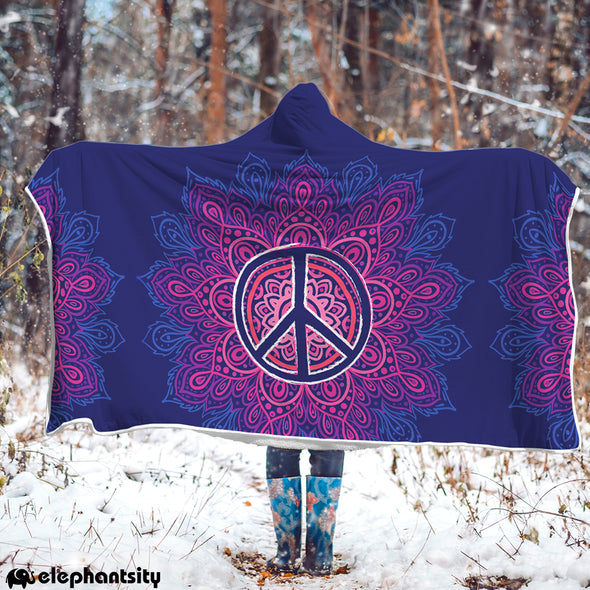 Peace & Love Hooded Blanket | woodation.myshopify.com